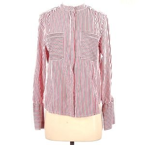 NWT Velvet Heart Red and White Striped Blouse